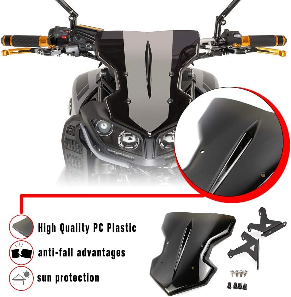 Smoke Lorababer Motorcycle Compatible with Yamaha FZ 09 MT 09 FZ09 MT09 Windscreen Windshield Fits FZ-09 MT-09 2017 2018 2019 Accessories ABS Plastics