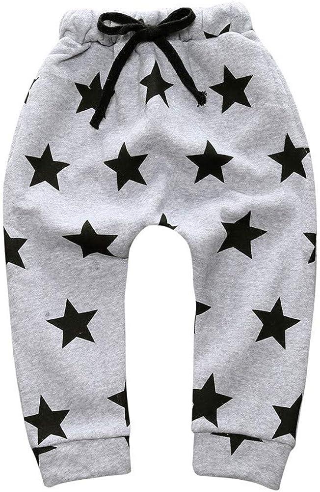Unisex Baby Long Pants Kids Girls Boys Star Pattern Harem Pants Toddler Thick Warm Trouser Old Kids Solid Pants Leggings