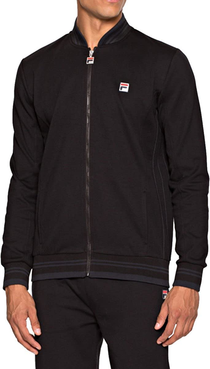 FILA VINTAGE Settanta Track Jacket | Jet Black: Amazon.es: Ropa y ...