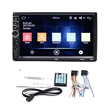 SODIAL Android 7.1 MP5 Quad 3G WiFi 7 Inch Dual 2DIN GPS Reproductor Stereo de Radio