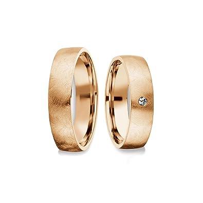 alianzas Trau Anillo de oro Rose Kit Diamante par de precio barato anillos de compromiso alianzas