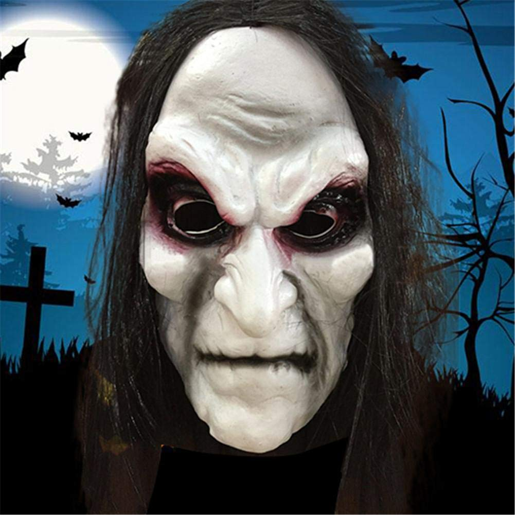 SaveStore Halloween Mask Zombie Halloween Masks Adult Ghost Festival Cosplay Costume Party Supplies Full Face Latex Halloween Horror Masks