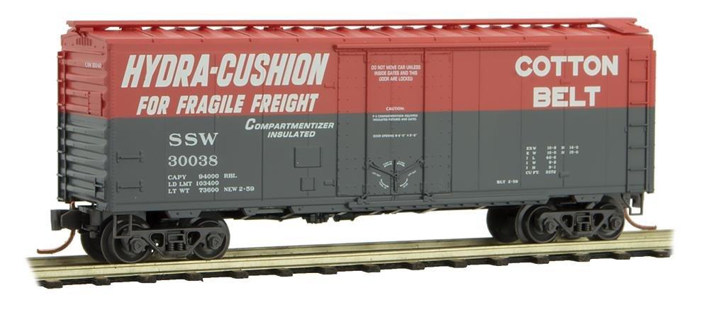 Micro Trains N Scale Cotton Belt 40' Box Car Rd#30038 - 02100592