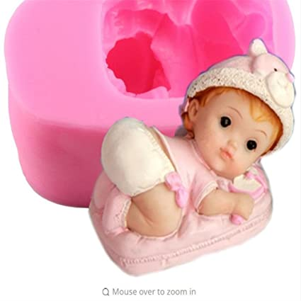 amazon com diy baby girl making candy fondant silicone mold party