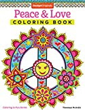img - for Peace & Love Coloring Book (Coloring is Fun) (Design Originals) 30 Far-Out, 60s-Inspired, Beginner-Friendly Creative Art Activities from Thaneeya McArdle on High-Quality, Extra-Thick Perforated Paper book / textbook / text book