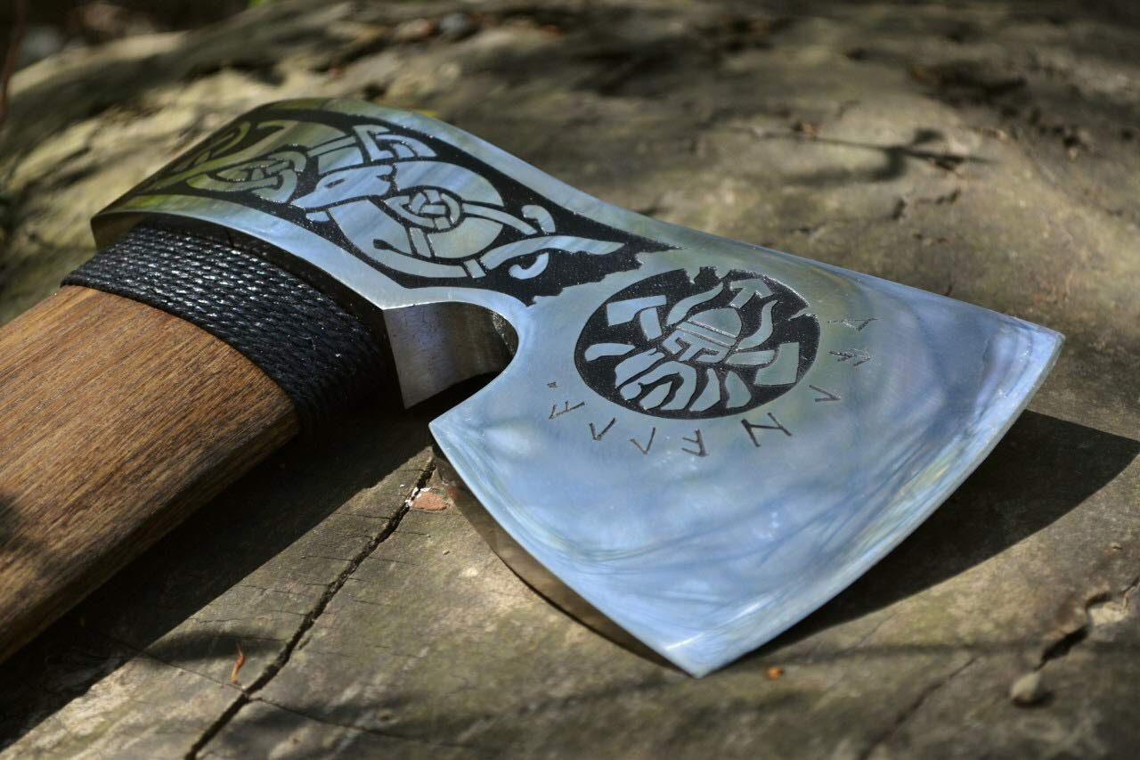 iron gift for him mens gifts medieval axe gifts for men viking axe ax tree of life kitchen utinsils,tomahawk mens birthday gift Axe