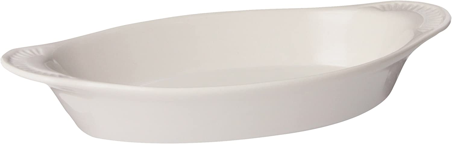 Browne Foodservice 12-Ounce Oval Lasagna Baker 564012W