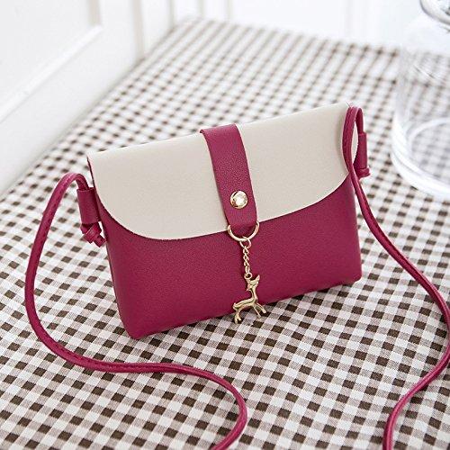 DJBHNZZZ Bag Bolsa Pequeña Hembra 2018 Nueva Moda Marea Bolso Bolso Messenger Bag Mini Bolsa, Un Gris Red C
