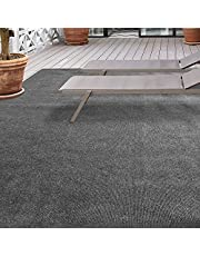 iCustomRug Affordable Indoor/Outdoor Carpet with Marine Backing, Many Carpet Flooring for Patio, Porch, Deck, Boat, Basement or Garage 12' X 16' in Grey