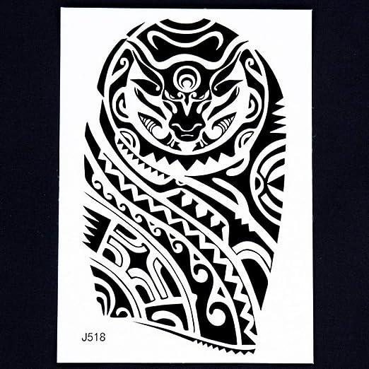 adgkitb 3 Piezas Body Art Brazo Mangas Pierna Tatuaje Temporal ...