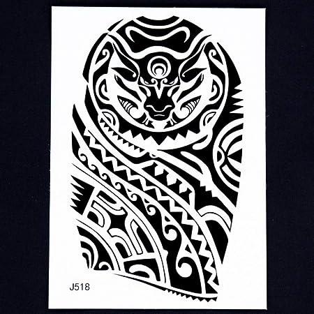 Handaxian 3pcsBody Historia del Arte Indio tótem Brazo Negro Retro ...