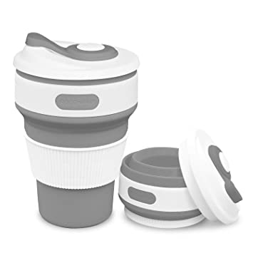 100Food 350ml Mug Coffee For Hiking Grade Camping Outdoor Commuters Rocontrip … Travel Bpa Free Collapsible Silicone CupPortable CBeoxd