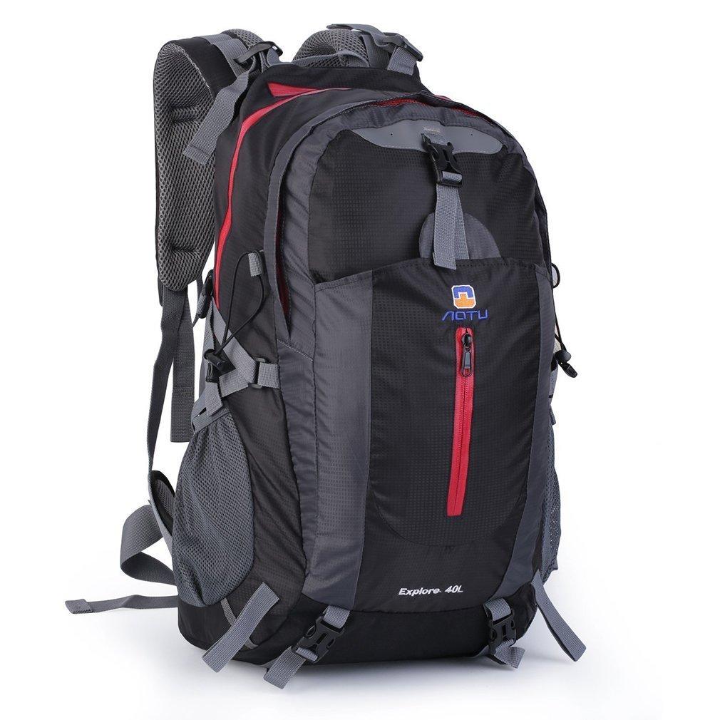 OUTADハイキング用デイパック40l防水内部フレームバックパックハイキングバックパックアウトドアハイキング旅行 – ブラック   B01M7PRH9B