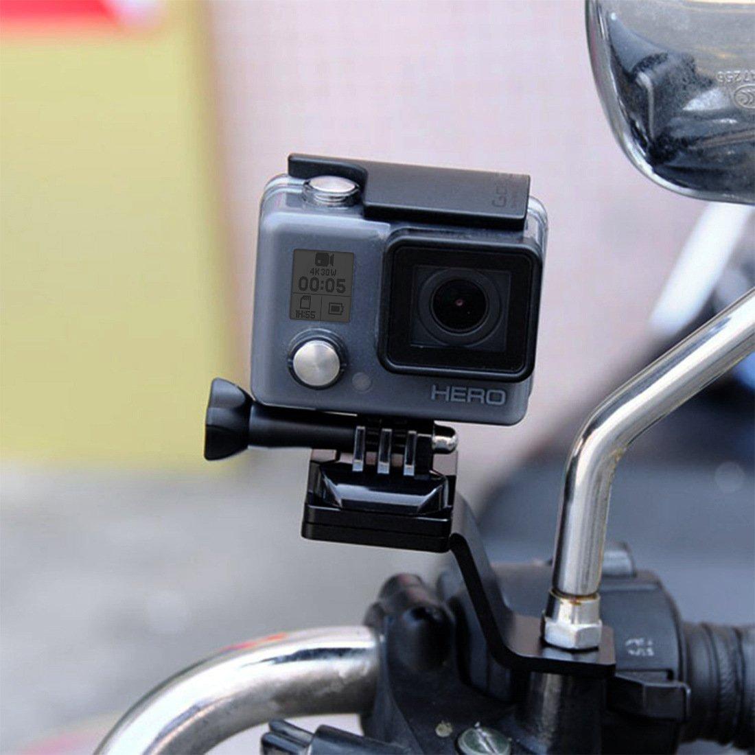 Meiyiu Soporte de motocicleta de aleaci/ón de aluminio para accesorios de acci/ón GoPro DJI Osmo Oro
