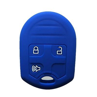 Rpkey Silicone Keyless Entry Remote Control Key Fob Cover Case protector For Ford E-150 E-250 E-350 Super Duty F-150 F-250 F-350 Explorer Edge Flex Fusion CWTWB1U793 164-R8070 CWTWB1U793: Automotive