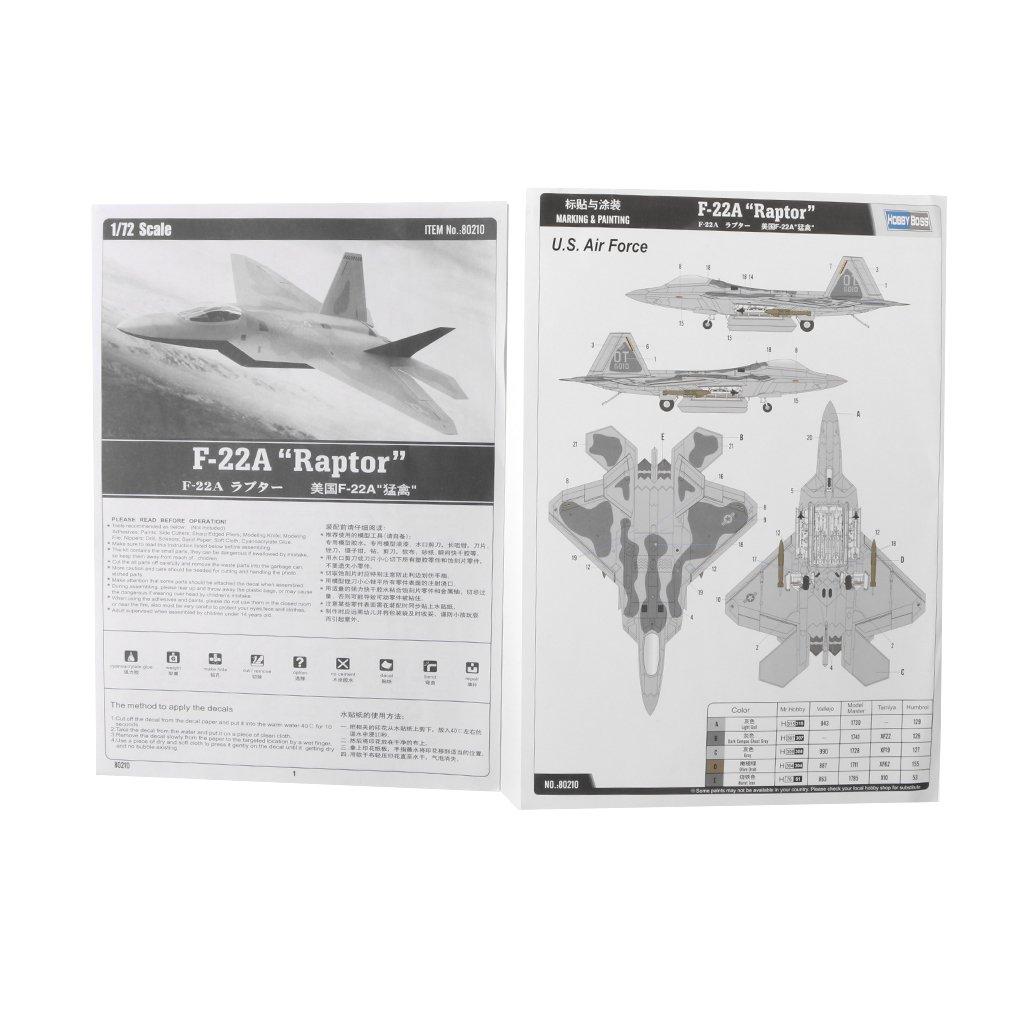 d8931b65869da Buy Homyl 1/72 USAF Lockheed Martin F-22 Raptor Model Building Kits ...