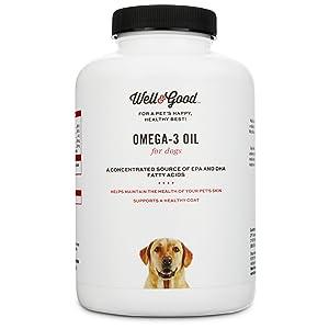 Well & Good Skin & Coat Omega-3 Dog Capsules, 180 Capsules