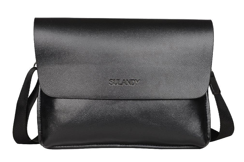 9b381f43aa65d sulandy  Fashion Herren Leder mit Leinwand Umhängetasche Tasche Mann  Business Casual Laptop Bag Aktentasche Leder Umhängetasche (kaffee)   Amazon.de  Koffer