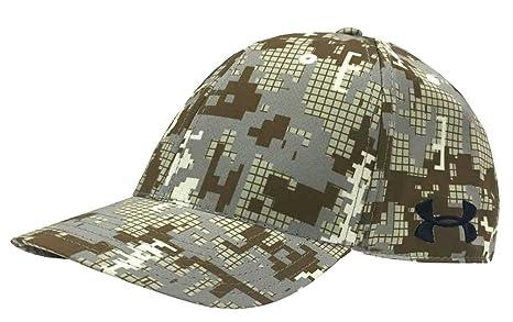 b47974bdafd3 Amazon.com: Under Armour Digi Camo Golf Cap Hat Curved Bill, White ...