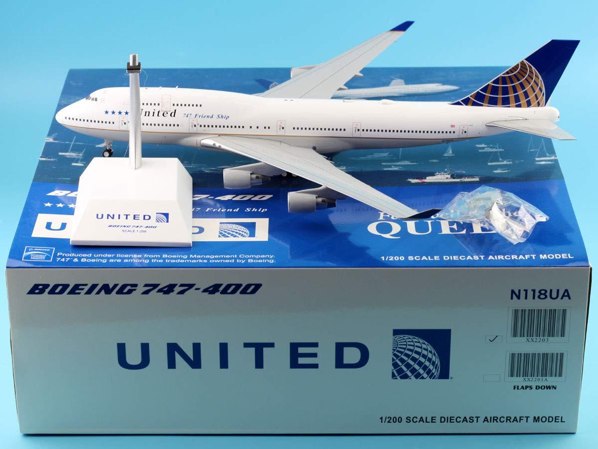 【送料0円】 JC Wings 1:200 747-400 1:200 XX2203 United LAST Flight XX2203 Boeing 747-400 Friend Ship ダイキャスト航空機モデル Reg#N118UA B07R6H6843, TUBE:203df176 --- calloffice.com.tr