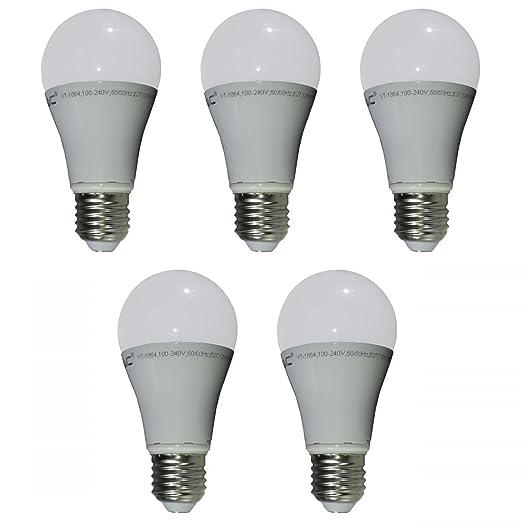 496 opinioni per V-TAC- VT-1864- 4228, Set di 5 lampadine SMD LED, 12 W, attacco: E27, 100- 240