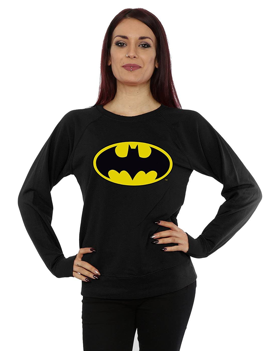 DC Comics Femme Batman Logo Sweat-shirt Absolute Cult