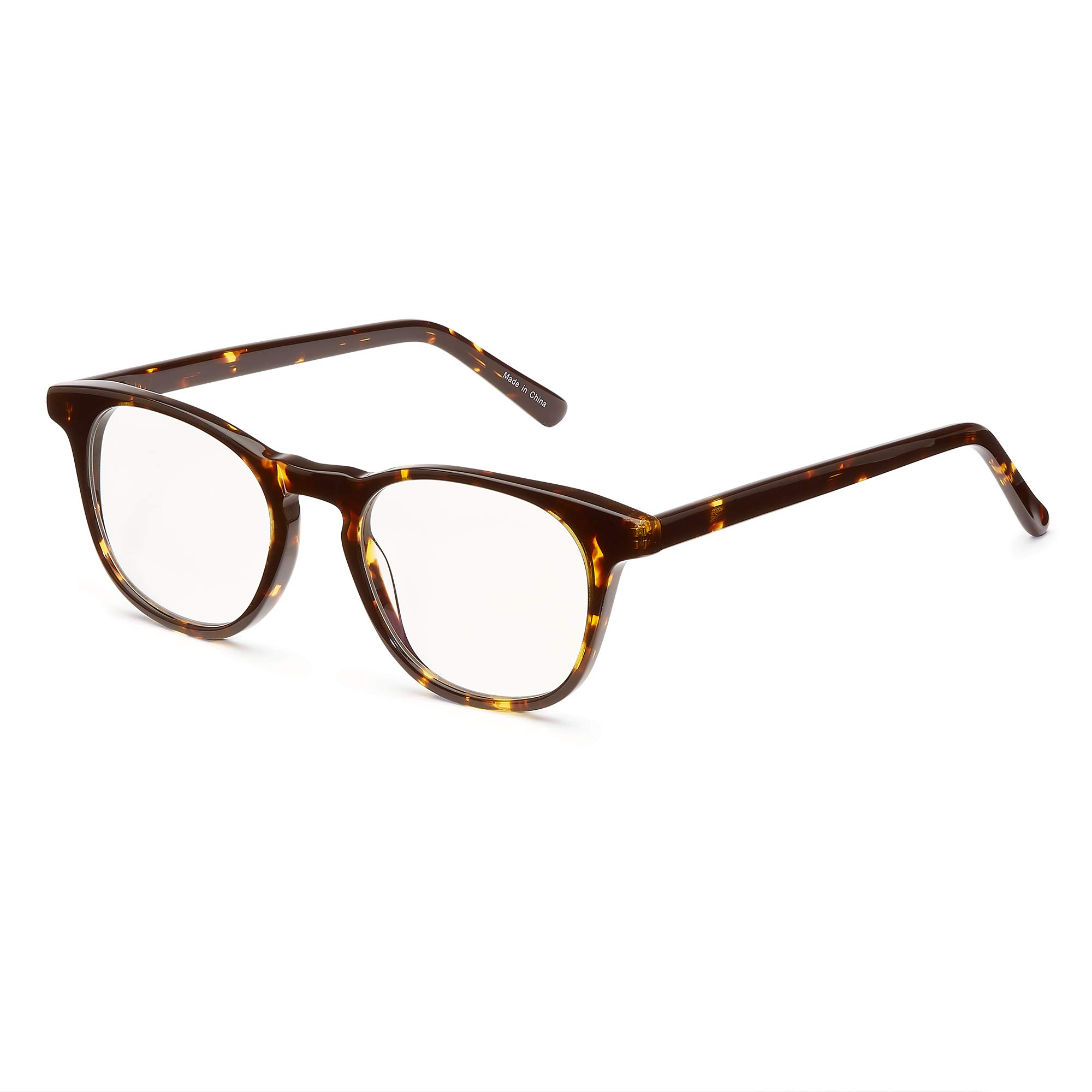 KPI Blue Light Blocking Glasses | Eye Protection, Anti Glare Anti-Radiation Computer Reading Glasses | Filter Harmful Light from Digital Devices | Acetate Frame, Clear Lens, No Yellow or Blue Tint