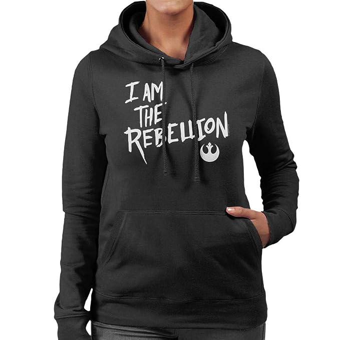 Star Wars I Am The Rebellion Womens Hooded Sweatshirt: Amazon.es: Ropa y accesorios
