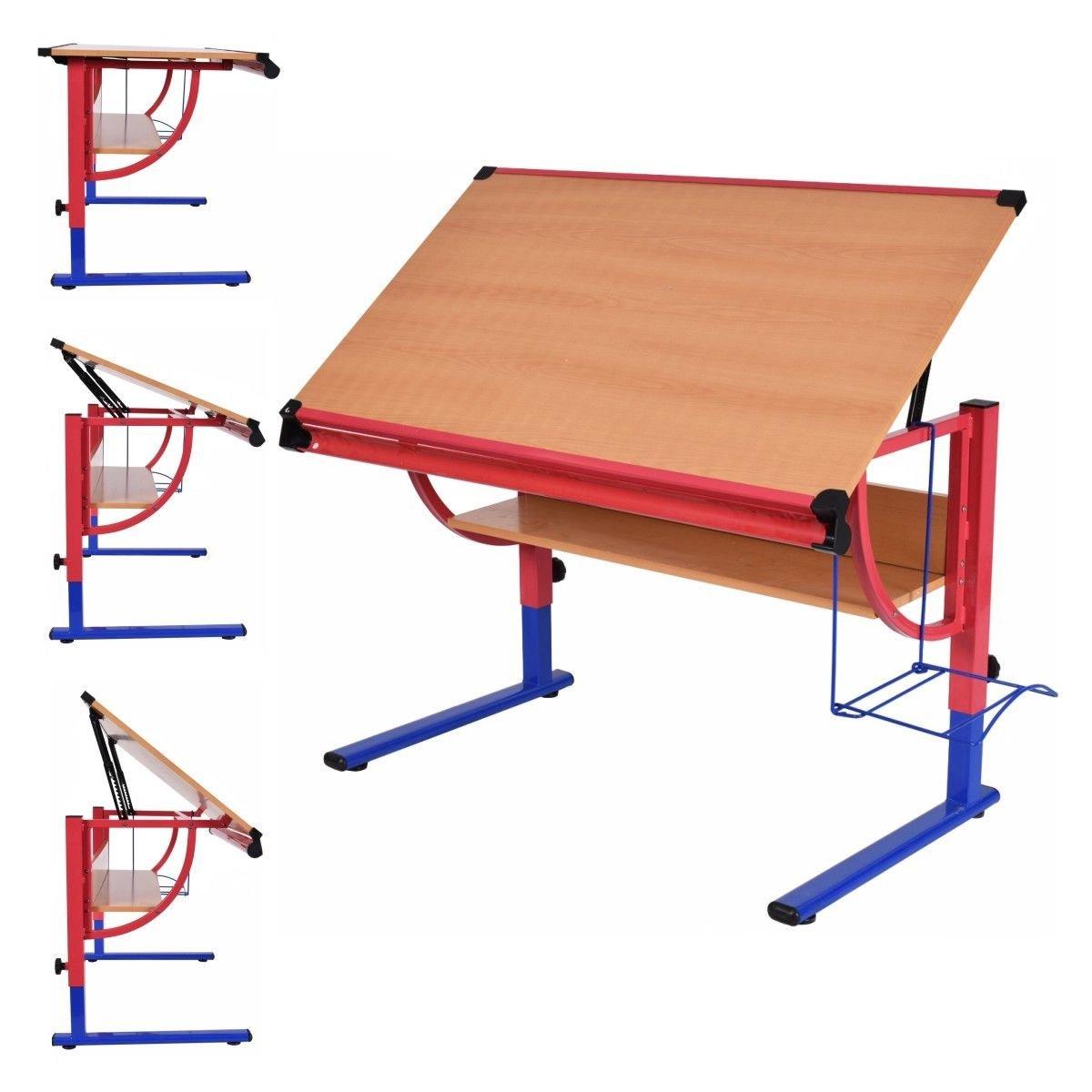 Amazon.com: Tangkula Drawing Desk Adjustable Drafting Table Art U0026 Craft  Hobby Studio Home Office Furniture
