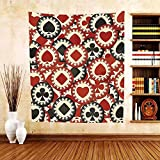 Gzhihine Custom tapestry Casino Decorations Collection Poker Chips Metropolitan Dollar Currency Symbols Wealth Winning Enjoy Bedroom Living Room Dorm Tapestry