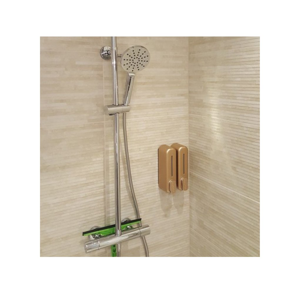 Amazon.com: OWOFAN Wall Mount Shower Pump Two Chamber Shampoo and Soap Dispenser ABS Gold 18036K-2: Home & Kitchen