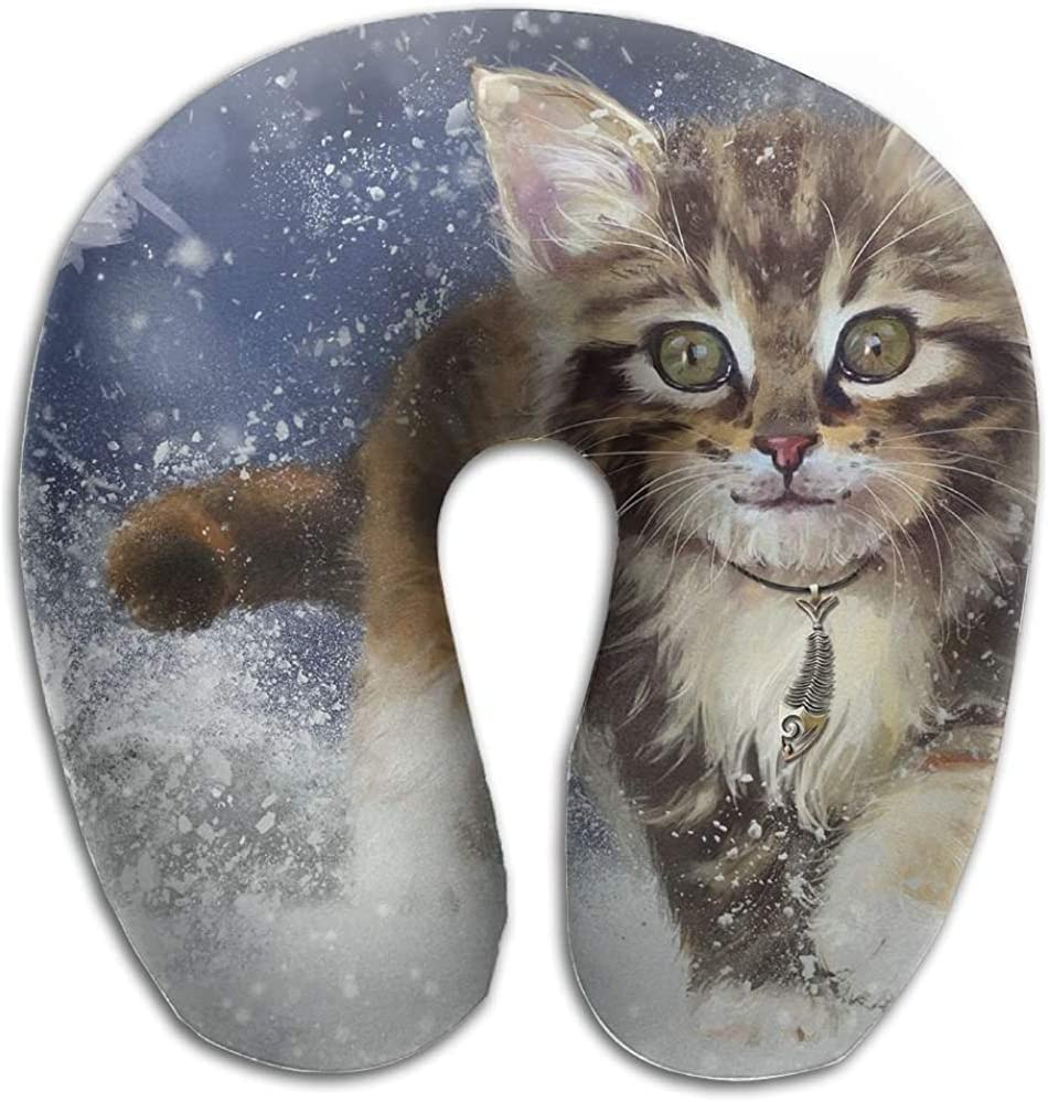 Tabby Cat Neck Support Pillow We are