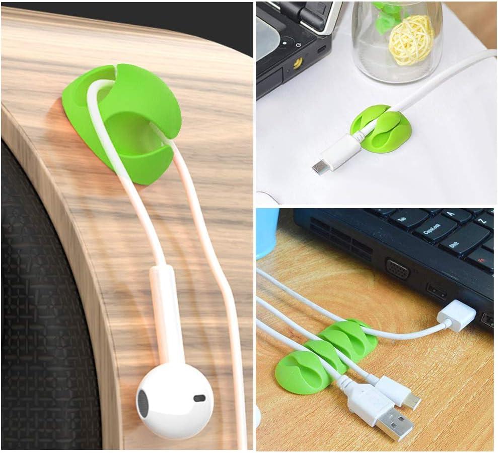 Unisun Kabel-Clips selbstklebend Zuhause und B/üro Ladekabel TV-Draht Kabel-Halter f/ür USB-Kabel Maus-Kabel 20 St/ück Kabel-Clips