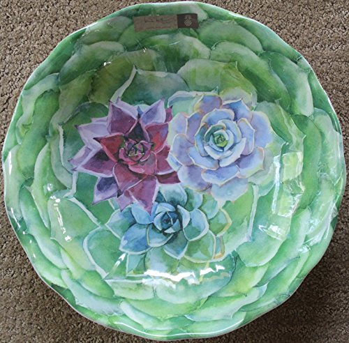 Nicole Miller Floral Cactus Melamine Round 12