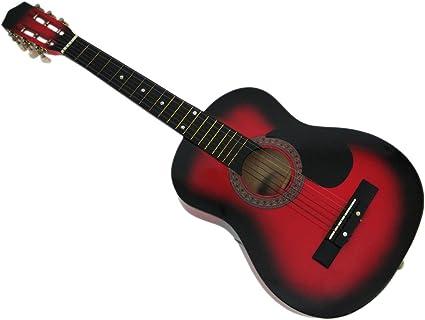 32 pulgadas – Rojo principiante guitarra acústica – y ...