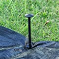 Shengmu 30 Pcs 8'' Garden Stakes Tents Edging Landscape Nails Anchors Plastic Nails Anchoring Spikes for Keeping Garden Netting Down,Holding Down The Tarps and Landscape Fabric Lawn Edging,Tents