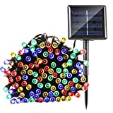 Solar String Light Garden,Fristee 8 Modes 200 LED Outdoor String Fairy Lights For Christmas ,Halloween, Tree, Garden Decorations -72FT (Multi-Color)