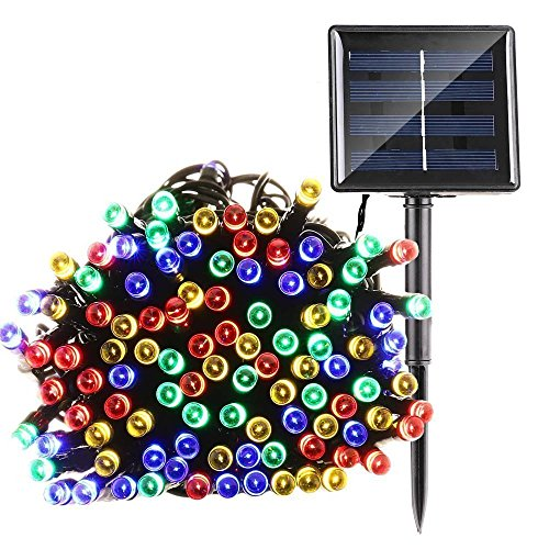 Solar String Light Garden,Fristee 8 Modes 200 LED Outdoor String Fairy Lights For Christmas ,Halloween, Tree, Garden Decorations -72FT (Multi-Color) by Fristee