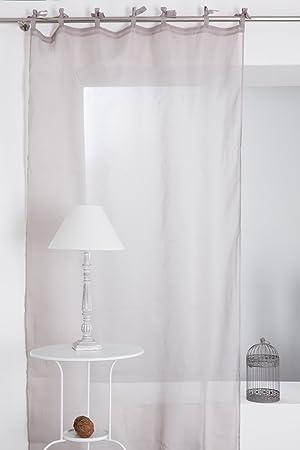 Joli Rideau Voilage Grande Hauteur 140 x 280 cm à Nouettes Effet Lin ...