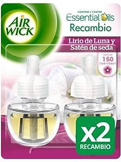 Air Wick Ambientador eléctrico recambio Duplo Lirio de Luna - Paquete de 2 x 19 ml