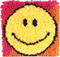 Caron Natura 12x12 Latch Hook Kit: Smiley Face by Caron