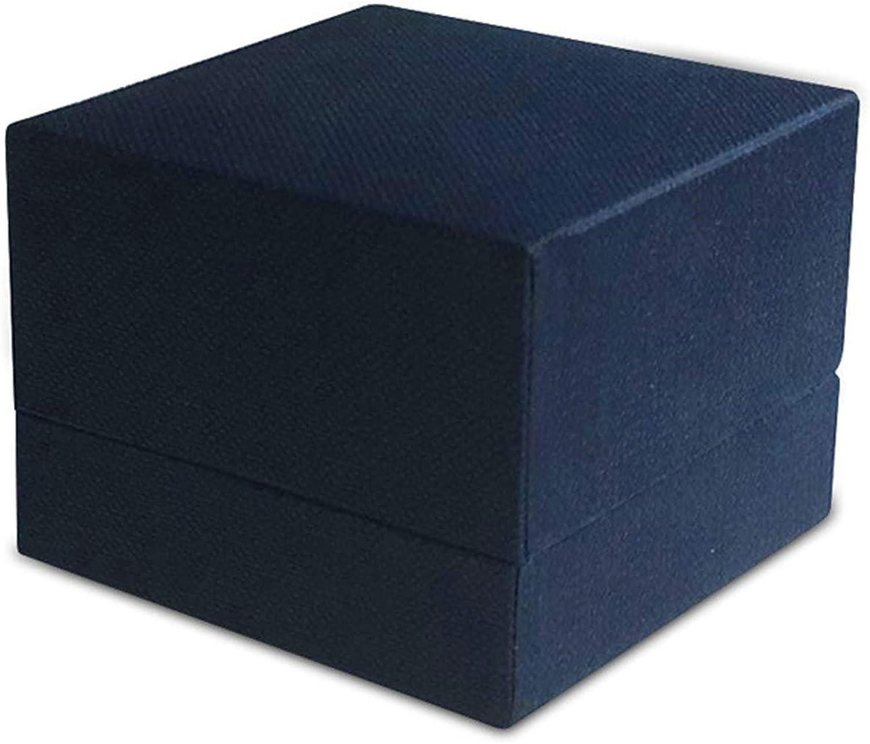 ROMQUEEN Caja de Anillo Azul Caja de Regalo para Collar Muy Adecuado para La Organización,Caja de Anillo Azul(5.9 * 5.9): Amazon.es: Joyería