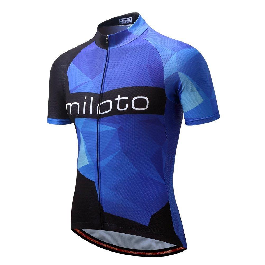 calmmoodメンズサイクリングジャージフルZip Bikingシャツショートバイク服自転車ジャケットポケット付き B078169FFK X-Large|Fancy Blue Fancy Blue X-Large