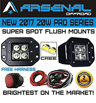 Amazon.com: No.1 20W Pro Series LED Spot Work Light Driving Lights ...