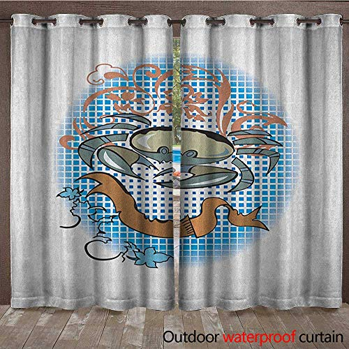 Crabs Patio Gazebo Pergola Cabana Cancer Sign in Cartoon Tattoo Style Astrological Theme with Floral Details HoroscopeW120 x L96 Multicolor -