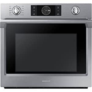 """Samsung Appliance NV51K7770SS 30"""" 5.1 cu. ft. Total Capacity Electric Single Wall Oven with Top Broiler, in Stainless Steel"""