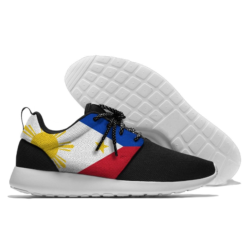 Flag Of The Philippines Unisex Running Shoes Sport Shoes Lightweight Sneakers Men's Mesh Breathable Athletic Walking Shoes B07B26LBQH 41|Black