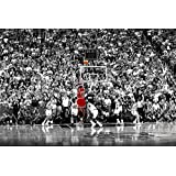 Poster Michael Jordan Chicago Bulls Last Shot 1998 (Basketball) Sports Print (24in x 36in)