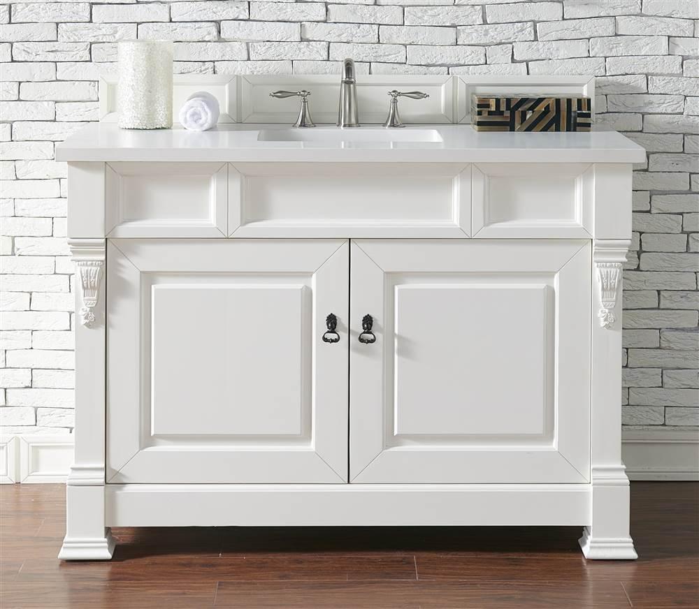 new 2-Door Single Vanity with Snow White Quartz Top