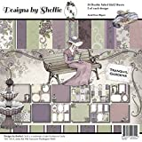 Designs By Shellie Cardstock 12x12 24/Pkg-Tranquil Gardens, 12 Designs/2 Each